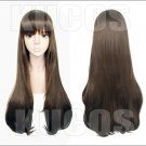 Pripara Kurosu Aroma black brown 80cm long anime cosplay wig