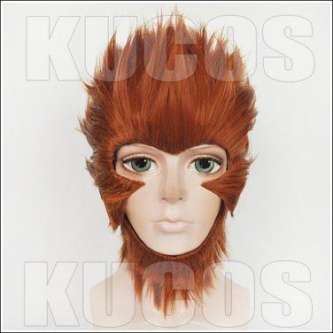 Monkey King Hero Is Back King of Heroes Son Goku short brown anime cosplay wig