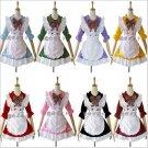 Japanese cosplay maid outfits lolita princess Maid Apron Dress meidofuku Dining room maid uniform