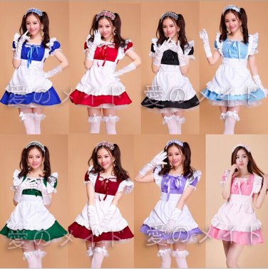 Japanese role playing cosplay maid outfits Maid Apron Dress meidofuku Dining room maid uniform