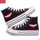 Tokyo Ghoul Kirishima Touka Ken Kaneki anime cosplay shoes canvas shoes cosplay pantshoes black D