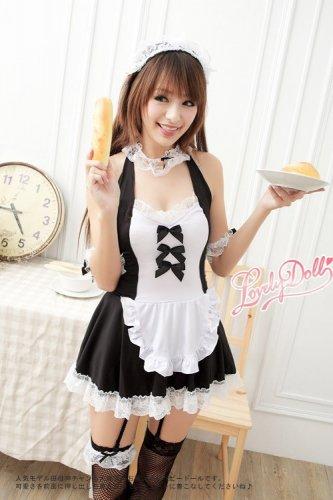 fashion sexy lolita cosplay Maid outfit Maid Apron meidofuku Dining room maid uniform