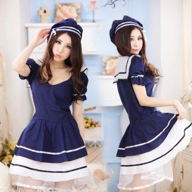 Japanese Lolita dress anime cosplay maid outfits Apron maid uniform sailor suit