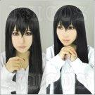 A Corpse is Buried Under Sakurako's Feet Sakurako kujo long 100cm black anime cosplay wig