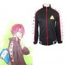Free Rin Matsuoka anime cosplay costume coat sportwear samezuka gakuen school uniform
