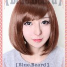 Osomatsu-San OSOMATSU OSO women ver short red brown anime cosplay wig