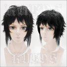 Bungo Stray Dogs Ryunosuke Akutagawa short black white anime cosplay wig