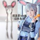 Judy long gray braid cosplay wig + ears