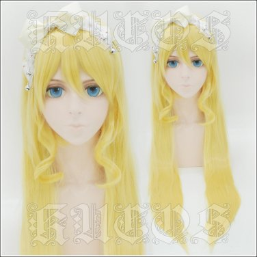 LoveLive christmas ball Choirs Eli Ayase Ellie 80cm golden anime cosplay wig