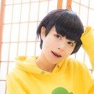 Osomatsu-San Matsuno Jyushimatsu short black anime cosplay wig