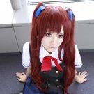 another Akazawa Izumi 70cm red brown cosplay wig