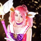 League of Legends star guardian lux pink cosplay wig