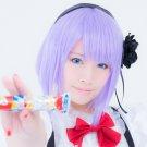 Dagashi Kashi Shidare Hotaru short light purple cosplay wig