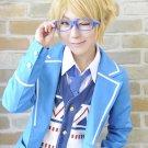ensemble stars Trickstar Yuuki Makoto short blonde cosplay wig