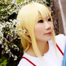 Your Lie in April Miyazono Kaori 60cm ponytail blonde cosplay wig