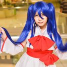 Fairy Tail Wendy Marvell long blue cosplay wig