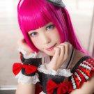 Puripara HojoSophie long 80cm rose red cosplay wig