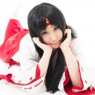 Queen's Blade Tomoe long 100cm black cosplay wig