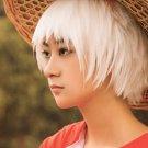 Big Fish & Begonia qiu short white cosplay wig
