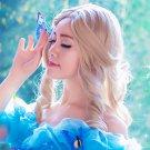 Cinderella 50cm linen curly cosplay wig