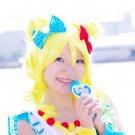 Pripara Minami Mirei short yellow curly cosplay wig