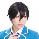 ensemble stars Hidaka Hokuto short black cosplay wig