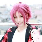 ensemble stars Isara Mao short dark red cosplay wig