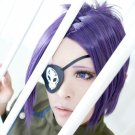 HITMAN REBORN! Kuromu Dokuro short black purple cosplay wig