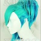 Uta no Prince-sama Mikaze Ai blue mix styled cospaly Wig + Gift