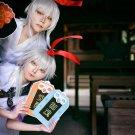 Onmyoji Paperman silver white cosplay wig