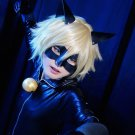 Miraculous Ladybug Cat Noir short light blonde cosplay wig