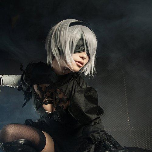 NieR:Automata NieR/YoRHa No. 2 Type B short silver white cosplay wig