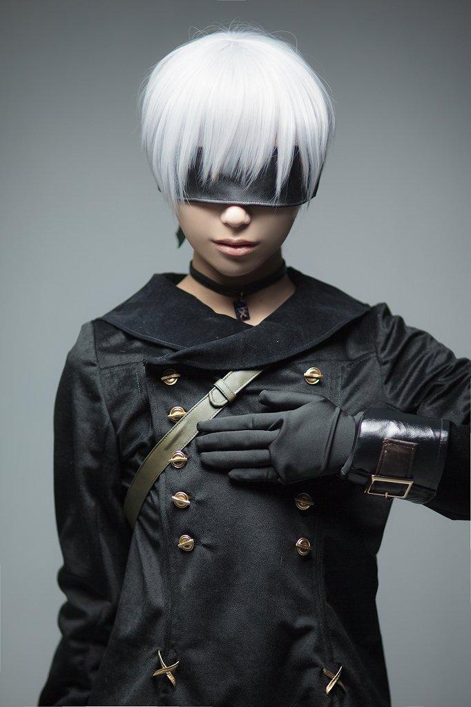 NieR:Automata YoRHa No. 9 Type S short white cosplay wig