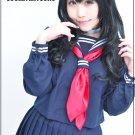 Battle Royale Aiba Hikaruko 70cm black curly cosplay wig