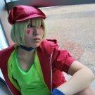 no game no life Tet short pink green cosplay wig