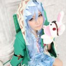 DATE A LIVE Yoshino 80cm blue curly cosplay wig