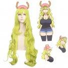 Kobayashi-chi no maid dragon Quetzalcohuatl Quetzalcoatl 120cm curly yellow cosplay wig