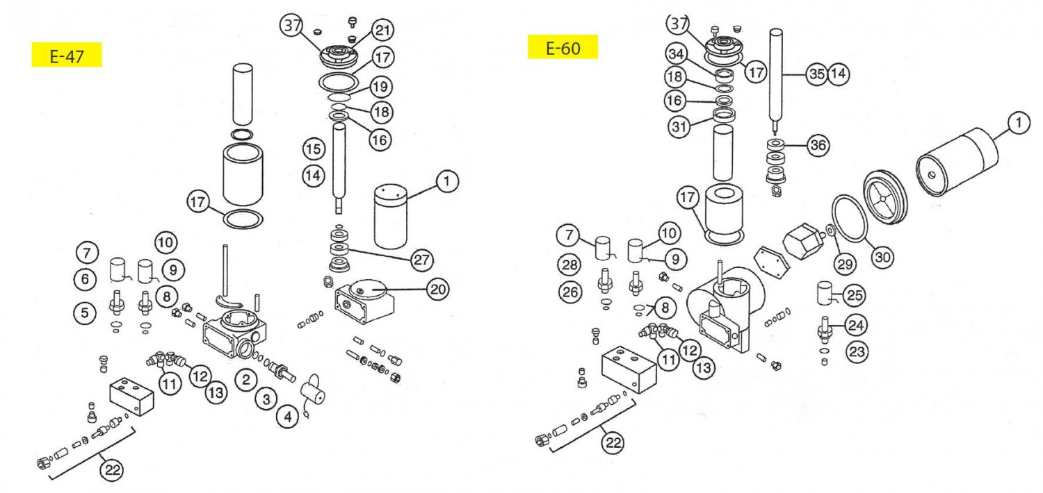 15707 seal kit for meyer e60 pump