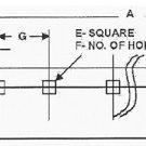 "BAX07627 Cutting Edge for Boss  V Plow  59-1/8"" long 5 Holes for 10' V Plow"