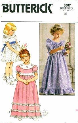 Butterick 3087 Long or Short Dress Size 5