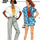 Butterick 3182 Shirt Shorts & Pants Size 6 - 10