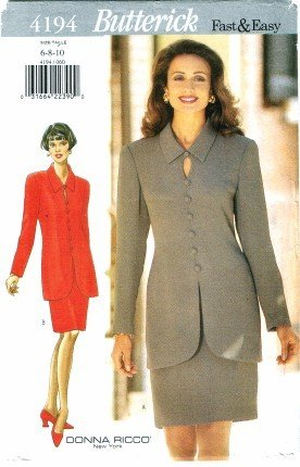 Butterick 4194 Sewing Pattern Donna Ricco Misses Top & Skirt Size 6 - 10