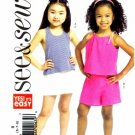 See & Sew 4766 Sewing Pattern Girls Halter Top & Shorts Size 6 - 8