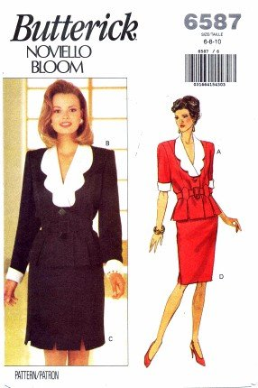 Butterick 6587 Sewing Pattern Misses Noviello Bloom Top & Skirt Size 6 - 10 Bust 30 1/2 - 32 1/2