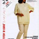 McCall's 3406 Sewing Pattern Misses Stretch Knit Top & Pants Size 16 - 20 - Bust 38 - 42
