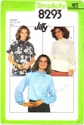 Simplicity 8293 Sewing Pattern Misses Jiffy Pullover Blouse Size 14 - 16 - Bust 36 - 38