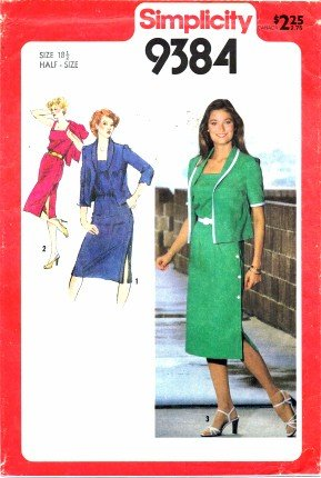 Simplicity 9384 Sewing Pattern Womens Side Button Dress & Jacket Size 18 1/2 - Bust 41