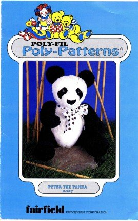 Poly-Fil Poly Patterns D-207 Sewing Pattern Peter the Panda Stuffed Animal