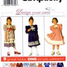Simplicity 7411 Sewing Pattern Girls Yoked Dress Size 5 - 6X