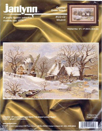 Janlynn Counted Cross Stitch Kit Windmill #102-02